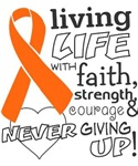 Living Life With Faith Kidney Cancer Shirts