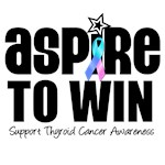 Aspire to Win Thyroid Cancer Awareness T-Shirts