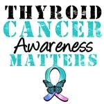 Thyroid Cancer Awareness Matters Butterfly T-Shirt
