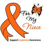 Leukemia Ribbon For My Niece Shirts & Gifts