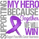 Supporting My Hero Pancreatic Cancer Shirts