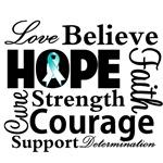 Cervical Cancer Hope Collage Shirts