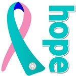 Hope Thyroid Cancer Ribbon Shirts and Gifts