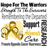 Tribute Appendix Cancer Shirts and Gifts