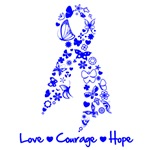 Colon Cancer Love Courage Shirts and Gifts