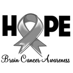 Hope Brain Cancer Shirts and Gifts