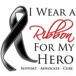 I Wear a Ribbon For My Hero Skin Cancer Shirts