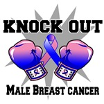 Knock Out Male Breast Cancer Shirts
