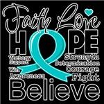 Faith Hope Ovarian Cancer Shirts