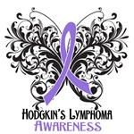 Butterfly Floral Hodgkins Disease Shirts