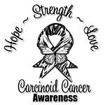 Hope Strength Love Carcinoid Cancer Shirts