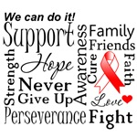 Oral Cancer Supportive Words Shirts and Gifts