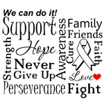 Mesothelioma Supportive Words Shirts and Gifts