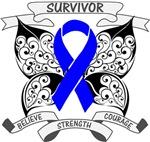 Colon Cancer Survivor Butterfly Shirts