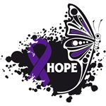 Hope Grunge Butterfly Pancreatic Cancer Shirts