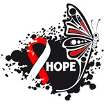 Hope Grunge Butterfly Oral Cancer Shirts