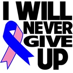 I Will Never Give Up Male Breast Cancer Shirts