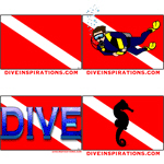 Dive Flag T-shirts, hats, and gifts