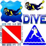 Scuba, Dive, and Scuba Divers