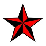 Black & Red Star