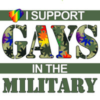 I SUPPORT GAYS IN THE MILITARY