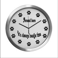 Always Beagle Time/Paws Clocks