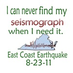 Can Never Find Seismograph East Coast Quake