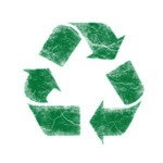 Recycle Symbol - Distressed