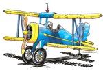 Blue Biplane