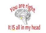 You are right:  It is all in my head