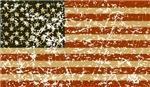 Vintage American Flag Design