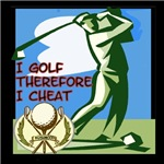 I golf therefore I cheat