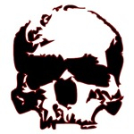 Black and Red Graphic Skull
