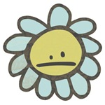 Sad Blue Flower Cartoon