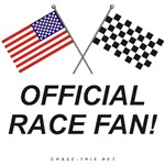 AMERICAN & CHECKERED FLAG<br />OFFICIAL RACE FAN