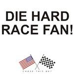 AMERICAN  & CHECKERED FLAG<br />DIE HARD RACE FAN