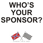 REBEL & CHECKERED FLAG<br />WHO'S YOUR SPONSOR?