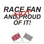REBEL & CHECKERED FLAG<br />NOT PROUD RACE FAN