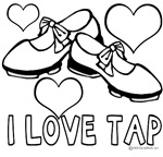 I Love Tap Coloring Shirt