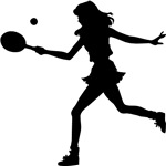Girls Tennis Silhouette