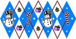 Blue & Red Argyle Snowmen