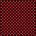 Red Polka Dots on Black