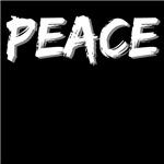 White Peace Word Shirts