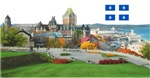 Old Quebec Pano with one Flag
