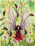 Ladybug Fairy Fantasy Art