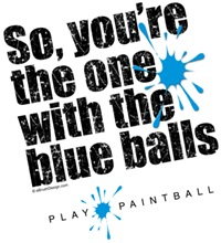 Paintball Blue Balls
