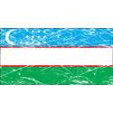 Vintage Uzbekistan Flag