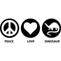Peace Love Dinosaur
