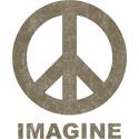 Vintage Imagine Peace