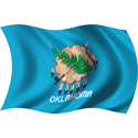 Wavy Oklahoma Flag